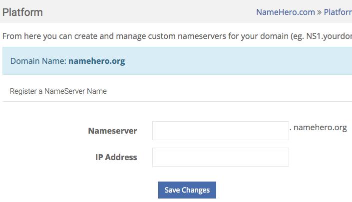 Register NameServers