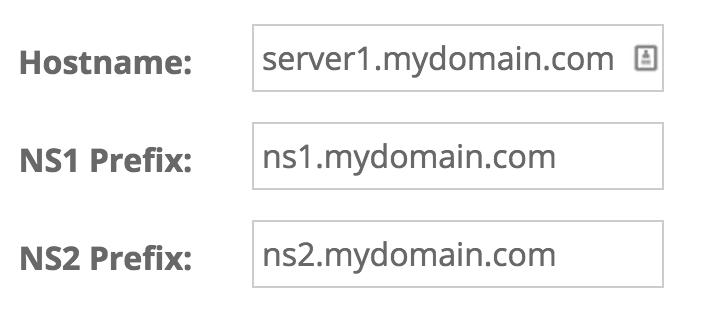 Configure Name Servers