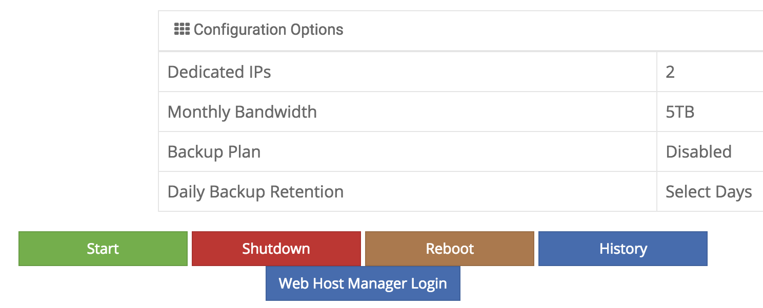 Web Host Manager Login