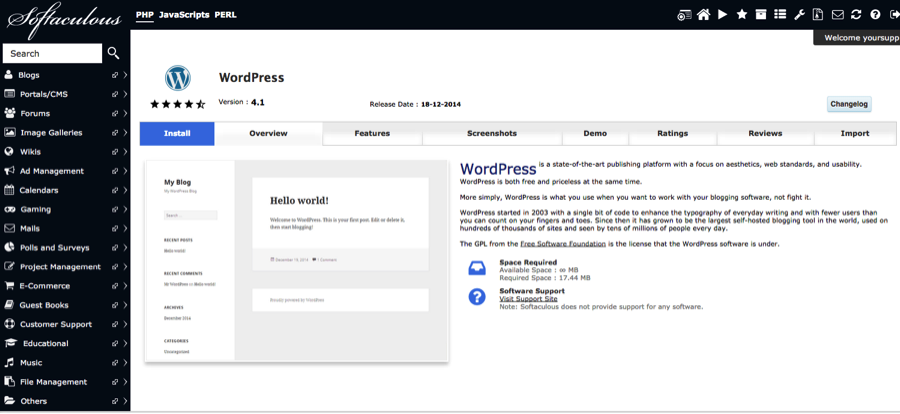 Setup WordPress Hosting