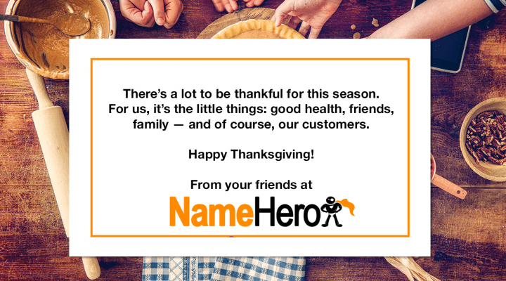 Happy Thanksgiving From NameHero