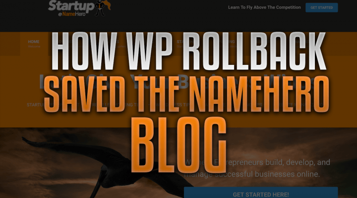 How WP Rollback Saved The NameHero Blog