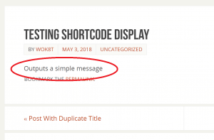 Shortcode Output