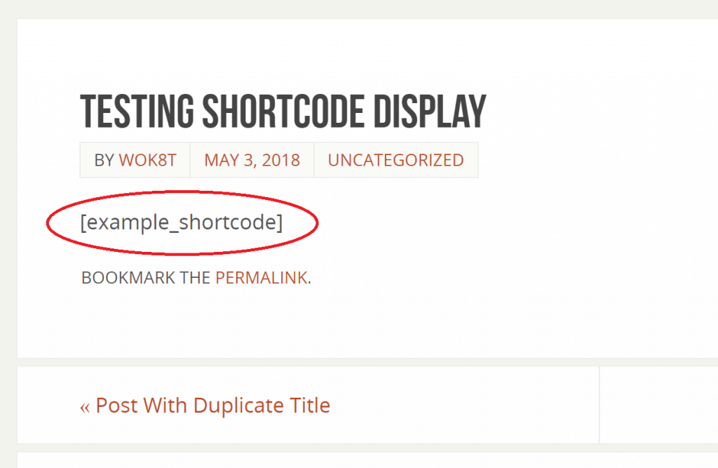 Shortcode displays as is