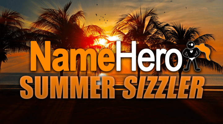 NameHero Summer Sizzler Sale
