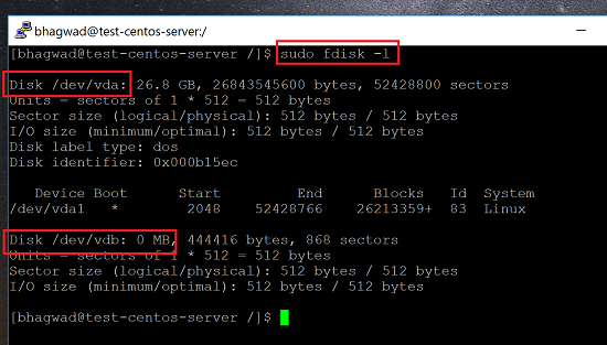 Get Free Disk Space with fdisk