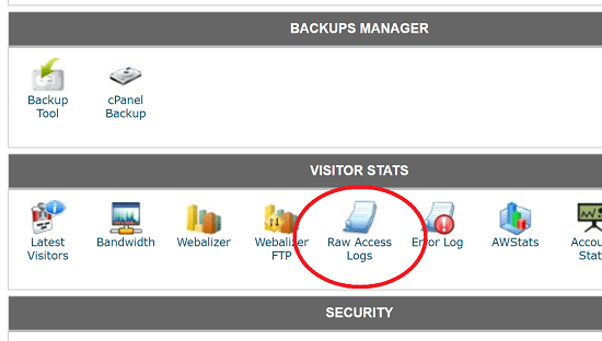 Raw Access Logs in cPanel