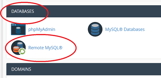 Remote MySQL Database in cPanel