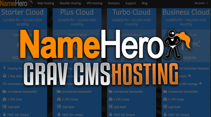 High Speed Cloud Web Hosting For Grav CMS