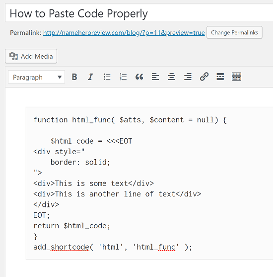 How to Paste Code
