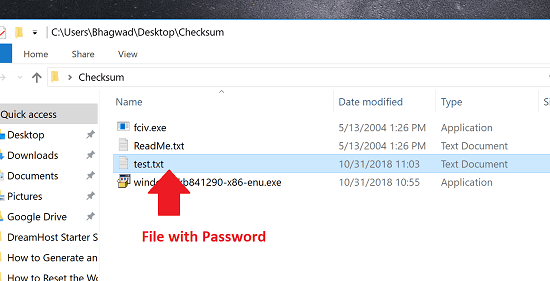 File with Password