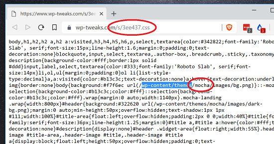 Search inside CSS Files