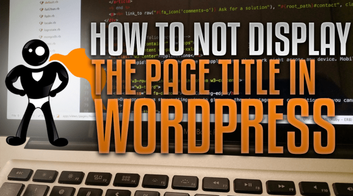 How To Not Display Page Title In WordPress