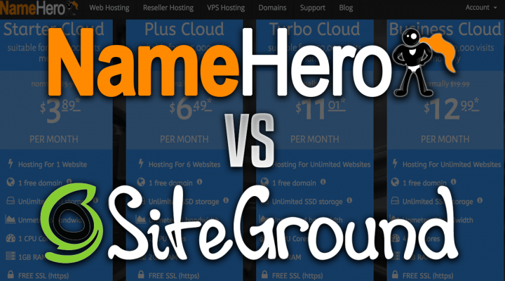 NameHero vs. SiteGround Web Hosting Review