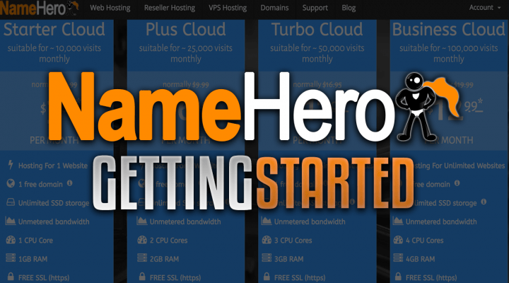 The Complete Guide To Getting Started With NameHero High Speed Cloud Web Hosting