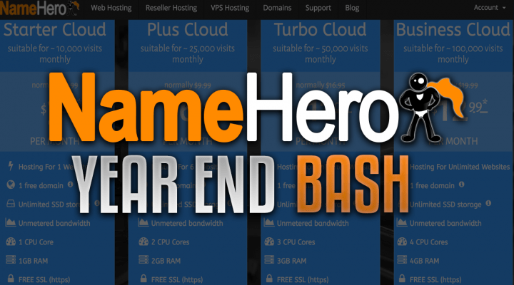 NameHero's Year End Bash: Customer Appreciation (Save 50% Off All Products/Services)