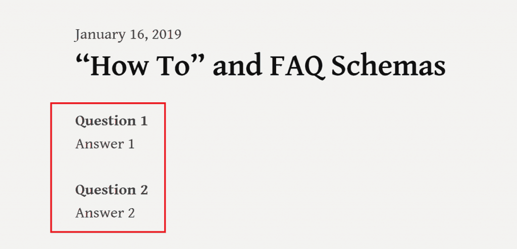 Published Form for FAQs