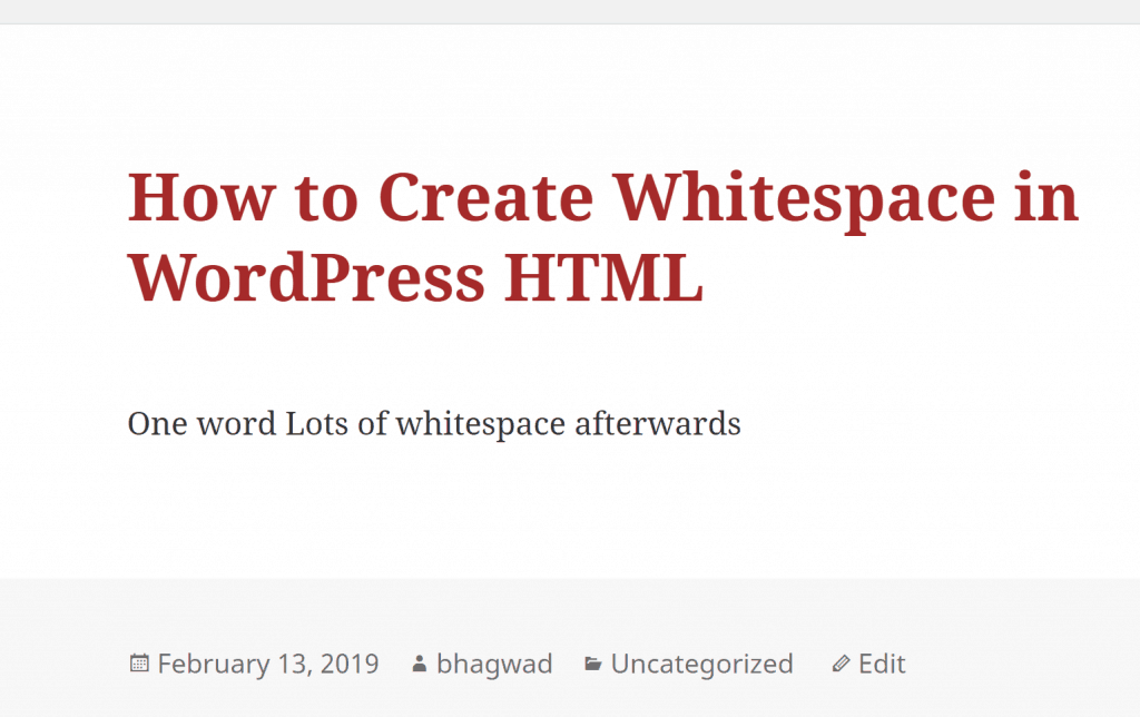 HTML Ignores Consecutive Whitespace