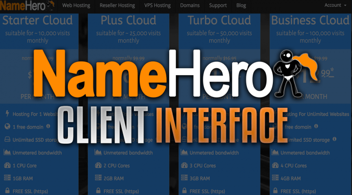 NameHero Client Interface