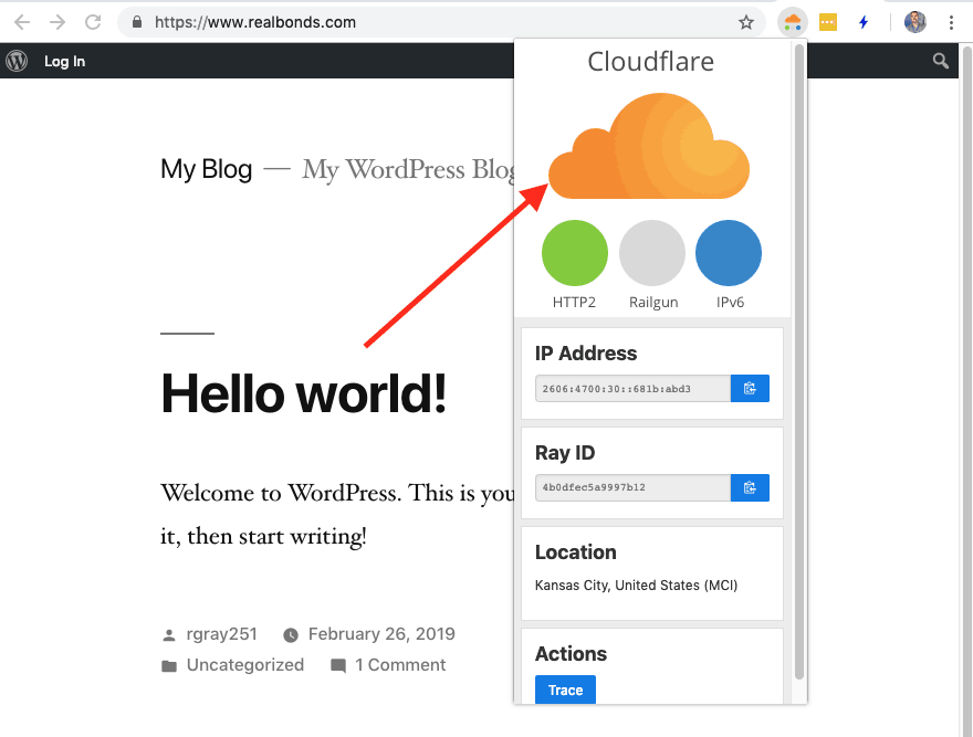 Checking Cloudflare With The Claire Chrome Extension