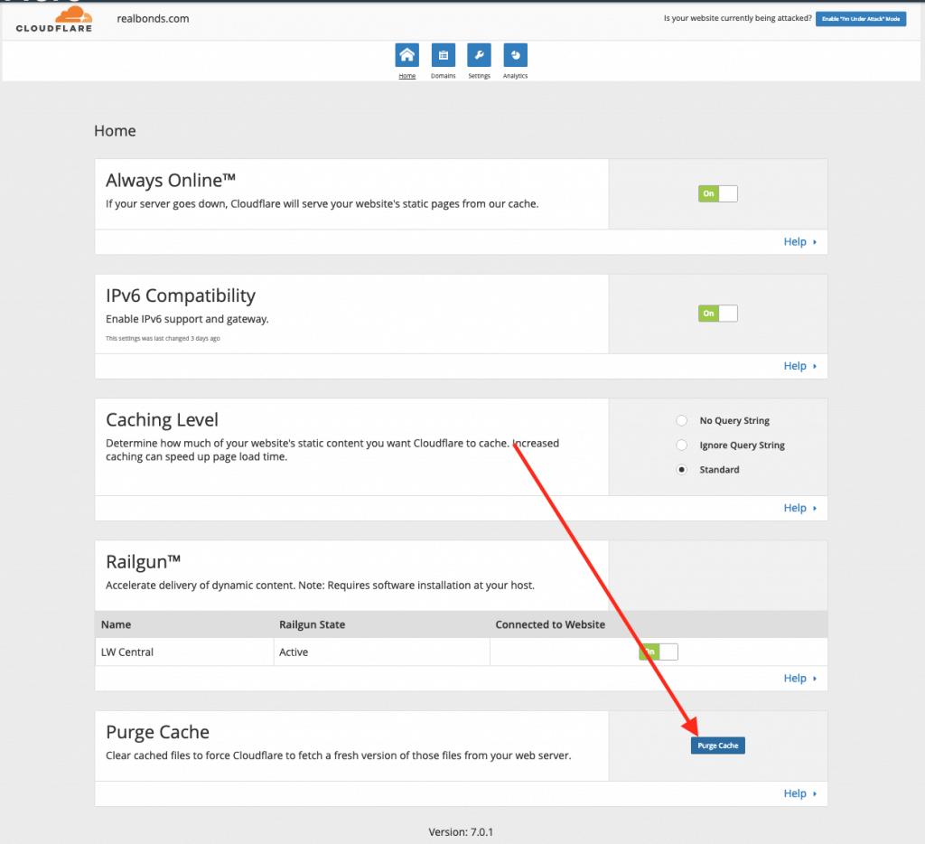 How To Purge Cloudflare's Cache