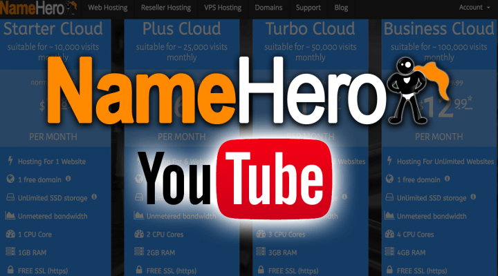 NameHero's Official YouTube Channel Crosses 1,000,000+ Views