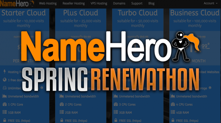 "NameHero's Spring ""Renewathon"" Is Now Live – Save Up To 50% Off Renewals!"