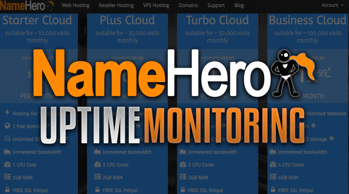 NameHero Uptime Monitoring