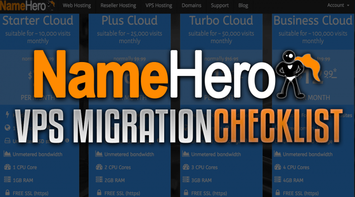 NameHero VPS Migration Checklist