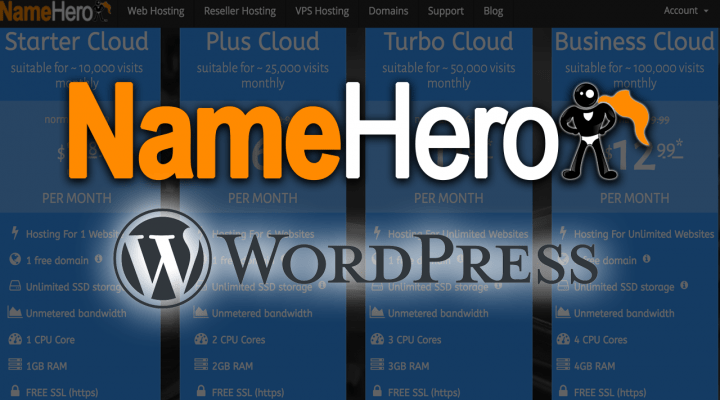 NameHero WordPress Hosting