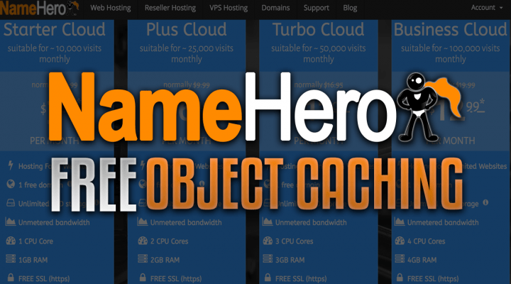 NameHero Free Object Caching