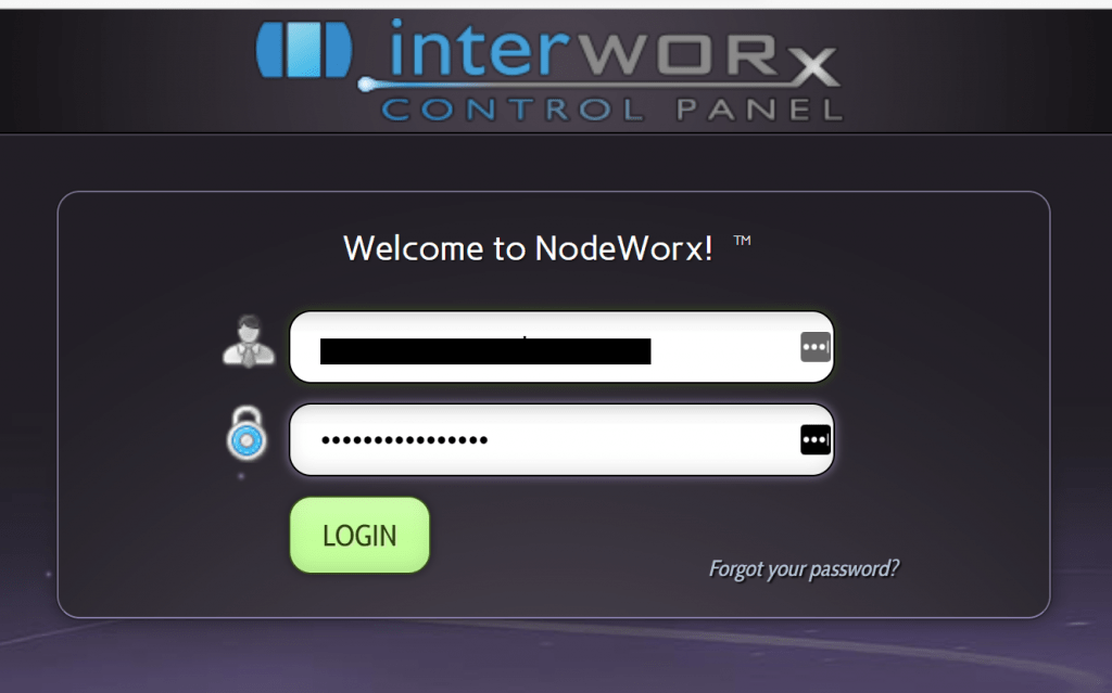 Log into InterWorx